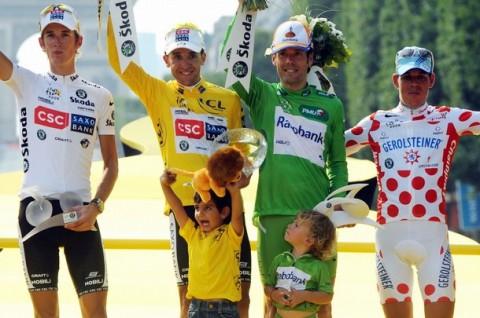 Tour de France győzelmi dobogó 2008