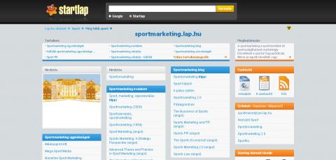 Elindult a sportmarketing.lap.hu