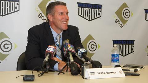 Vermes Péter, a Kansas City Wizards vezetőedzője