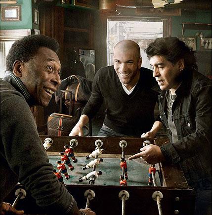 Louis Vuitton reklám Pelé, Maradona és Zidane szereplésével