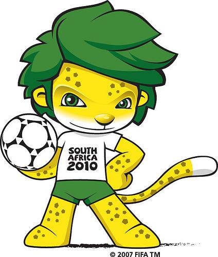 Zakumi, a dél-afrikai labdarúgó világbajnokság kabalafigurája