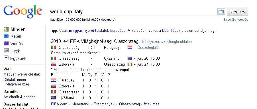 A FIFA és a Google együttműködése a világbajnokság során ... a2f23d2c74
