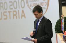 NEMCSIK BALÁZS, az EHF kommunikációs menedzsere