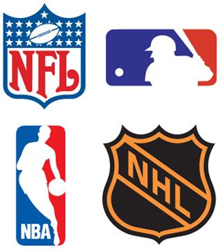 Az amerikai major ligák logói