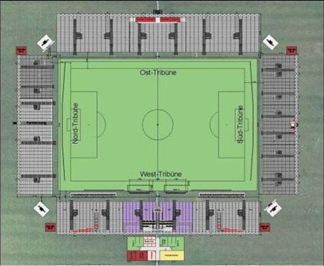 Ideiglenes mobil stadionba költözik a Fortuna Düsseldorf