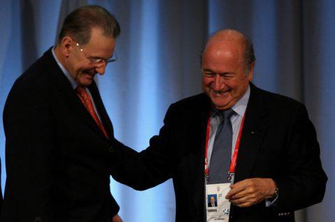 Jacques Rogge és Sepp Blatter