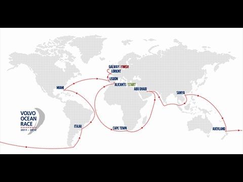 Volvo Ocean Race 2011-2012 térkép