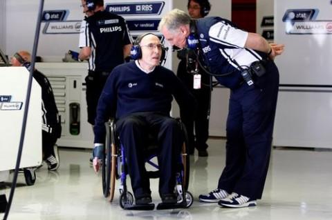 Frank Williams és Patrick Head verseny közbeni megbeszélése