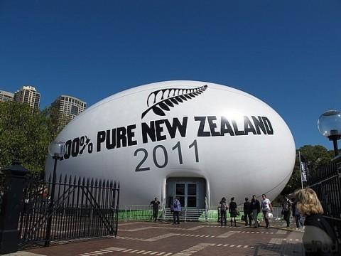 Rögbi világbajnokság promóció Új-Zélandon