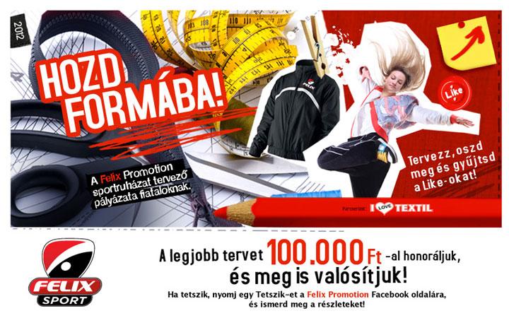 Sportruha tervező pályázatot hirdetett a Felix Promotion