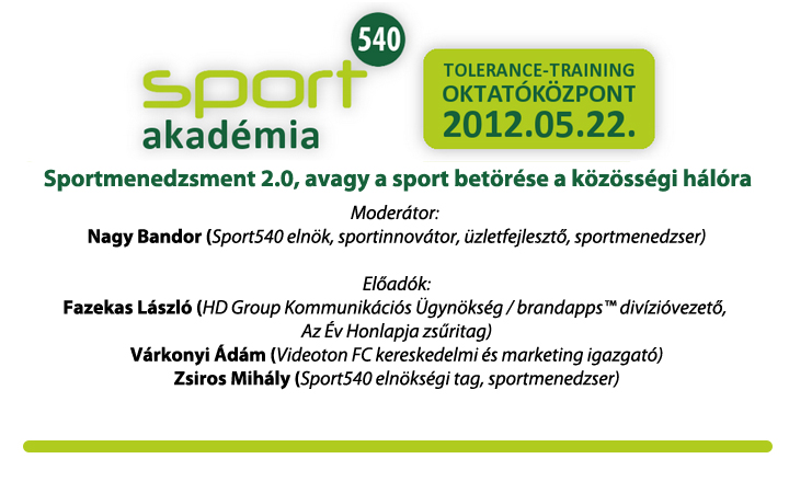 Sportmenedzsment 2.0, avagy a sport betörése a közösségi hálóra