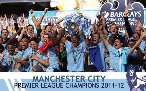 A Manchester City ünnepli a bajnoki címét