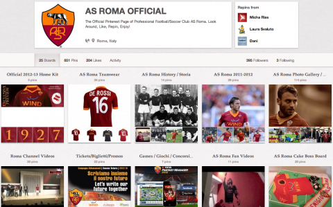 AS Roma Pinterest