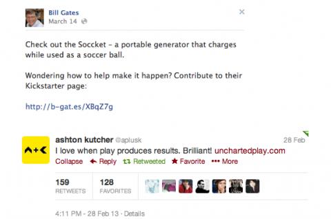 Bill Gates és Ashton Kutcher véleménye a Soccketről