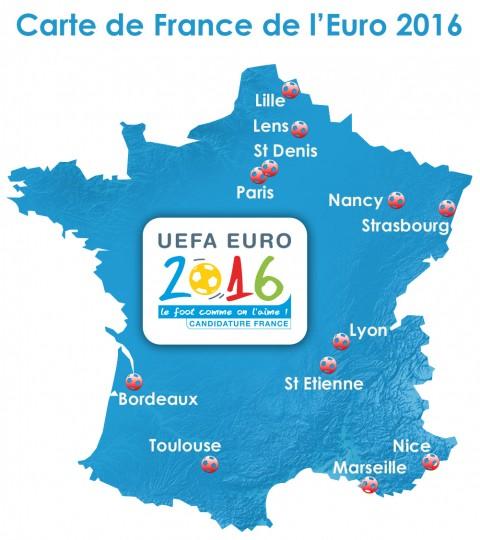 Euro 2016 térkép