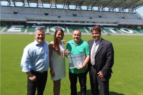 Családbarát Stadion díjátadás