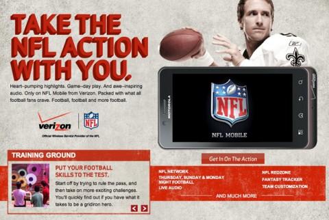 Verizon NFL alkalmazás