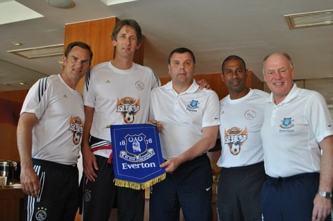 Az Ajax és az Everton képviselői a Chinese Football Dream indulásakor