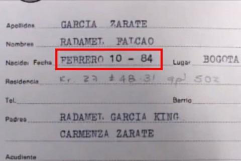 Falcao születési adatai