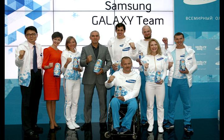 A Samsung bemutatta a szocsi téli olimpia nagyköveteit