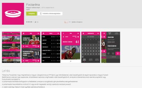 Fociaréna Android alkalmazás