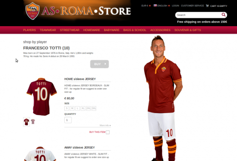 AS Roma online store