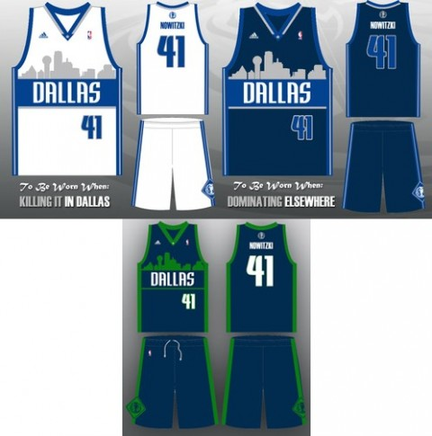 Dallas Mavericks szurkolói mez dizájn