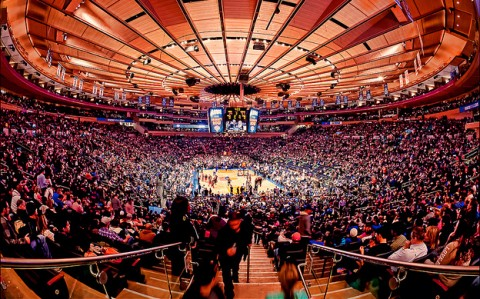 Madison Square Garden fényárban