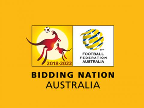 Ausztrália pályázati logója a 2022-es futball világbajnokságra