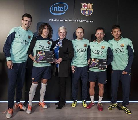 A Barcelona és az Intel sajtótájékoztatója