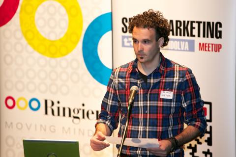 Zsédely Péter, a meetup főszervezője