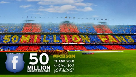 Barcelona 50 millió Facebook követő