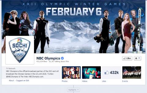 NBC Olympics Facebook oldal