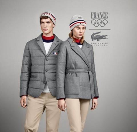 A francia olimpiai csapat formaruhája Szocsiban