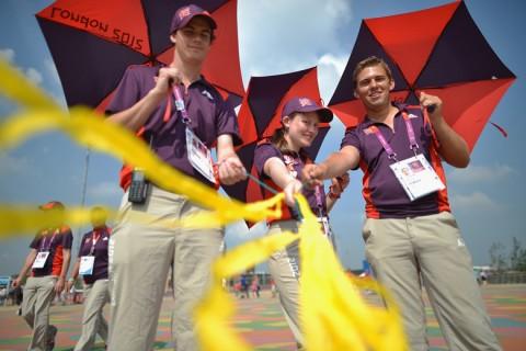 Önkéntesek a londoni olimpián