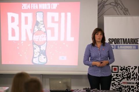 Ferencz Enikő, a Coca-Cola Magyarország szenior marketing aktivációs menedzsere