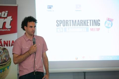Zsédely Péter, a Sportmarketing Újragondolva Meetup főszervezője