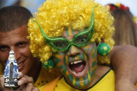 Brazil szurkoló a világbajnokságon