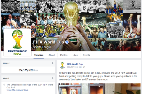 FIFA World Cup Facebook