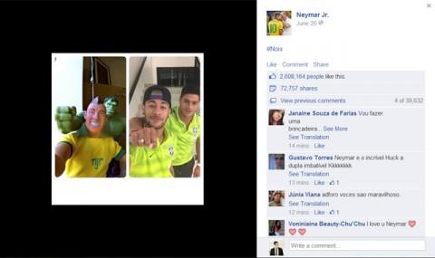 Neymar Facebook vb poszt