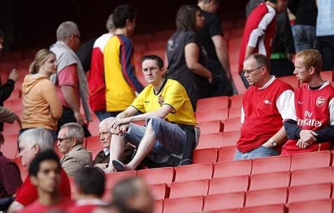 Szomorú Arsenal szurkolók