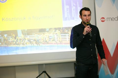 Tóth Balázs a sport társadalmi hatásai meetupon