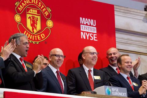 A Manchester United tőzsdei bevezetése
