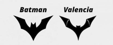 Batman Beyond logo és a Valencia tervezett új logója