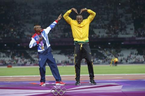 Mo Farah és Usain Bolt