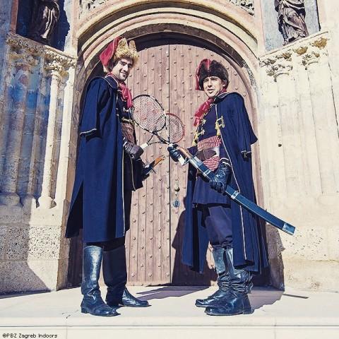 Baghdatis és Cilic a Cravat Regiment szerelésben