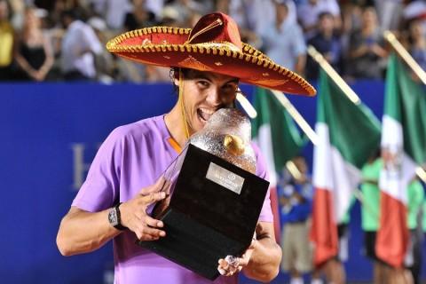 Rafael Nadal a díjátadon Sombreroban