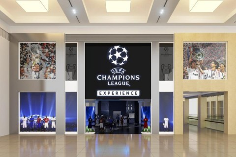UEFA Champions League Experience Store bejárat