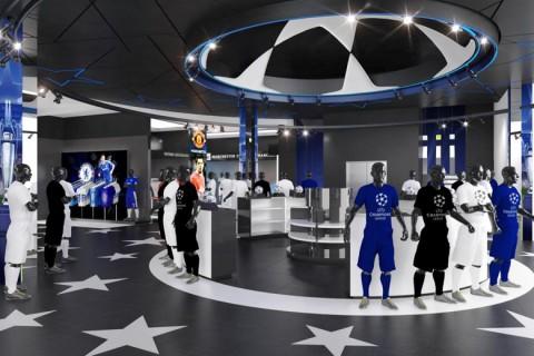 UEFA Champions League Experience Store belső berendezés