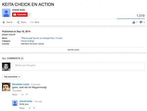 Cheick Keita - Youtube